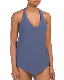 reveal designer Solid Taylor Tankini Top