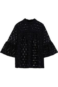 ANNA SUI Fluted lace blouse