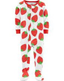 carters Baby Girl 1-Piece Strawberry Snug Fit Cott