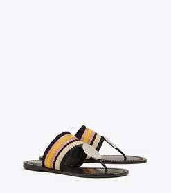 Tory Burch PATOS STRIPED DISK SANDAL