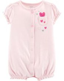 carters Baby Girl Striped Snap-Up Romper