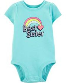 carters Baby Girl Best Sister Rainbow Collectible