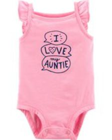 carters Baby Girl Neon Love My Auntie Tank Collect