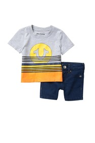 True Religion Sunset T-shirt & Shorts Set (Baby Bo