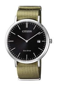 Citizen Men's Eco-Drive Olive Nylon Strap Watch