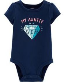 carters Baby Girl Auntie Is A Gem Collectible Body