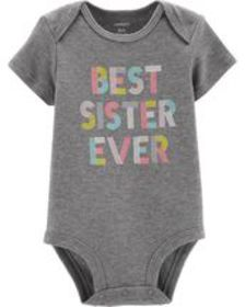 carters Baby Girl Best Sister Ever Collectible Bod