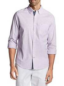 Nautica Classic-Fit Oxford Gingham Stretch Shirt L