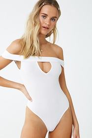 Forever21 Ribbed Cutout Bodysuit