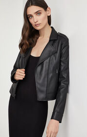 BCBG Faux Leather Moto Jacket