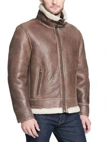 Wilsons Leather Rugged Genuine Lamb Shearling Coat