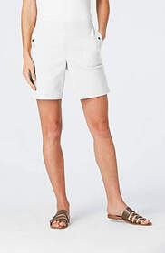 Soft Cotton-Stretch Snap-Pocket Shorts