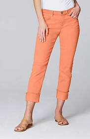 Authentic Fit Cuffed Cropped Jeans