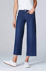 Authentic Fit Side-Piped Cropped Jeans