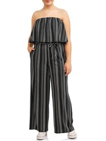 Juniors' Plus Strapless Jumpsuit