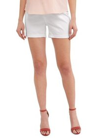 Time and Tru Maternity Denim Shorts with Side Pane