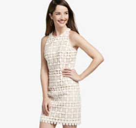 Johnston Murphy Lace Shift Dress