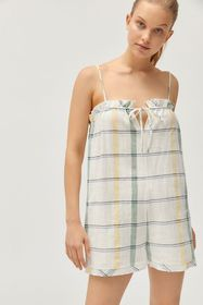 UO Lacey Shapeless Tie-Front Romper