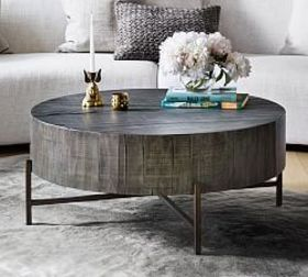 Pottery Barn Fargo Round Coffee Table