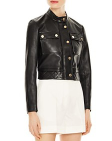 Sandro - Teodor Cropped Leather Jacket