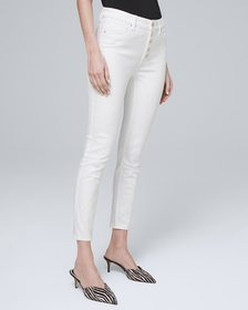 High-Rise Button-Fly Skinny Crop Jeans