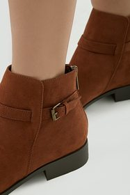 Forever21 Faux Suede Ankle-Strap Booties
