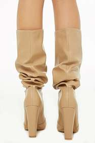 Forever21 Shoe Republic Slouchy Faux Leather Boots