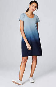 Pure Jill Indigo Knit Ombré Dress