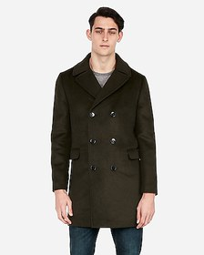 Express double breasted oversized topcoat