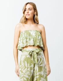 PATRONS OF PEACE Floral Womens Tube Top_