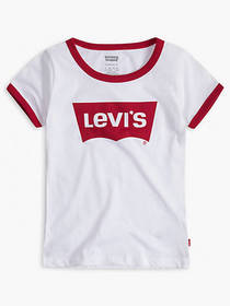 Levi's Little Girls 4-6x Retro Ringer Tee Shirt