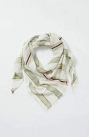 Woven-Stripes Triangle Scarf