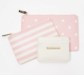 """As Is"" Isaac Mizrahi Live! Set of 3 Wallet Pouche"