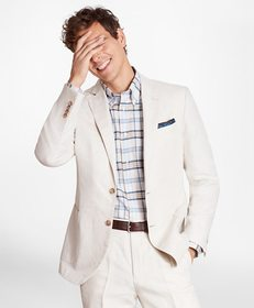 Brooks Brothers Regent Fit Cotton and Linen Sport