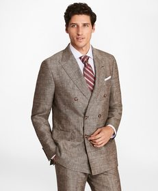 Brooks Brothers Regent Fit Double-Breasted Wool Bl