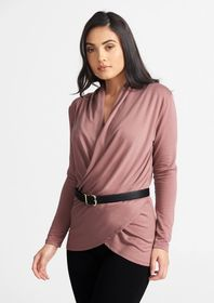 Tall Lux Pullover Wrap Top