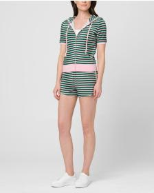 Juicy Couture STRIPED MICROTERRY ROBERTSON JACKET