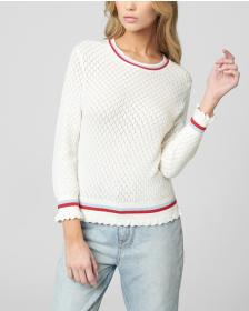 Juicy Couture POINTELLE KNIT SWEATER PULLOVER