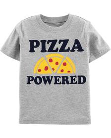 carters Baby Boy Pizza Powered Jersey Tee