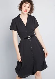 ModCloth ModCloth Exciting Find Shirt Dress Black