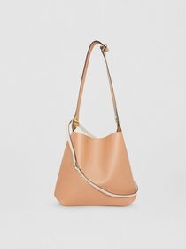 Burberry The Leather Grommet Detail Bag in Light C