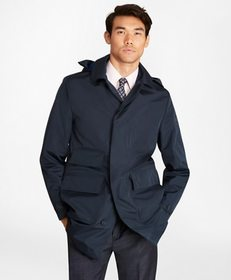 Brooks Brothers Water-Repellent Hooded Trench Coat