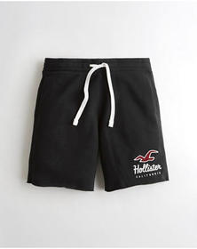 Hollister Classic Fleece Short 9 in., BLACK