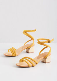 Lifted Spirit Strappy Heel Yellow