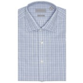 Mens Slim Fit Plaid Long Sleeve Dress Shirt
