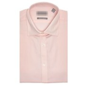 Mens Slim Fit Pink Long Sleeve Stretch Dress Shirt