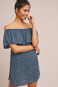 Anthropologie Falaise Off-The-Shoulder Petite Dres