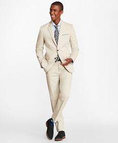 Brooks Brothers Milano Fit Stretch Cotton Suit