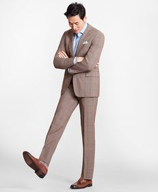 Brooks Brothers Regent Fit BrooksCool® Brown Check
