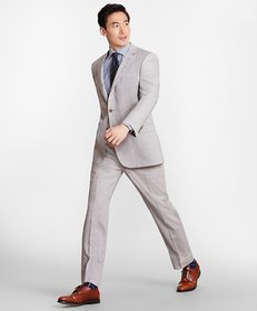 Brooks Brothers Madison Fit Linen Blend 1818 Suit